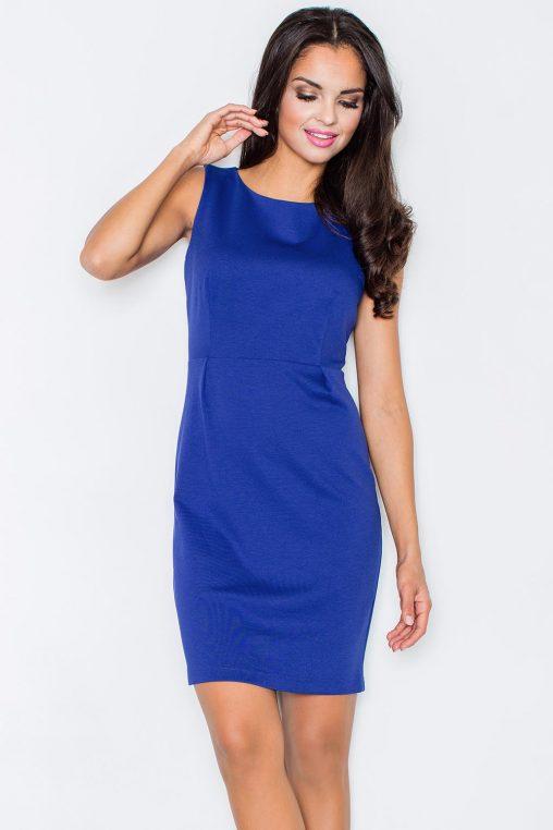 klasyczna sukienka wizytowa niebieska