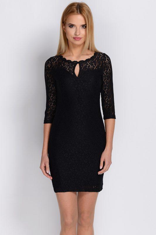 sukienka z koronki czarna na wesele
