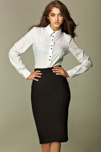 Czarna ołówkowa spódnica damska