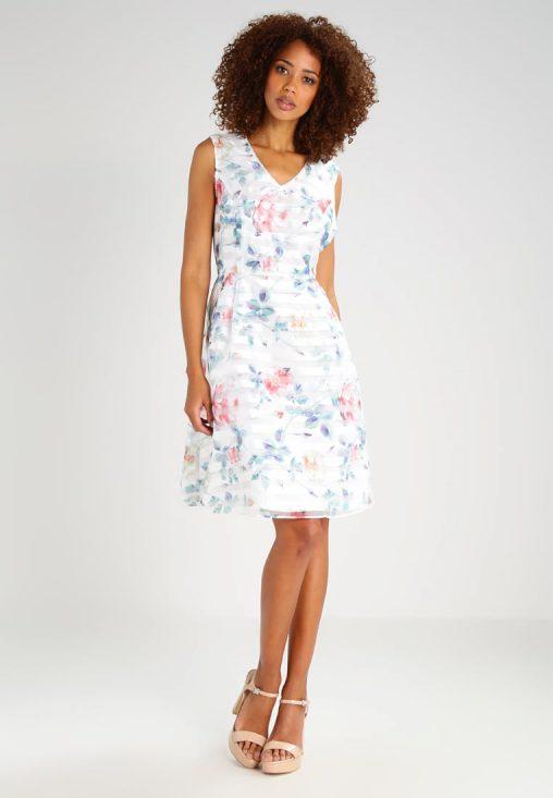 Letnia sukienka z kwiatowym wzorem