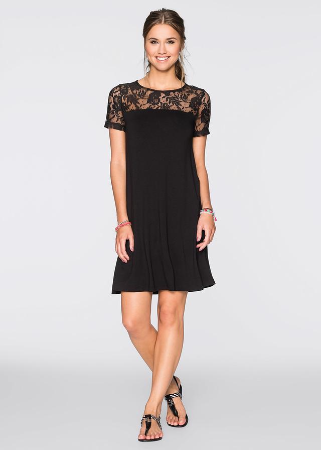Czarna luźna sukienka na wesele