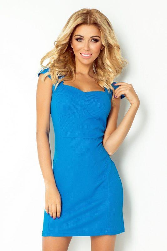Elegancka niebieska sukienka wizytowa