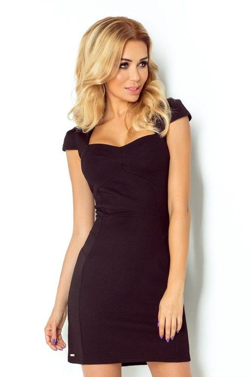 Elegancka czarna sukienka wizytowa