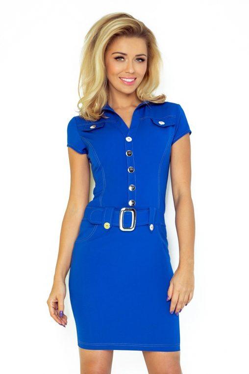 Sukienka szmizjerka niebieska