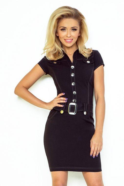Sukienka szmizjerka czarna
