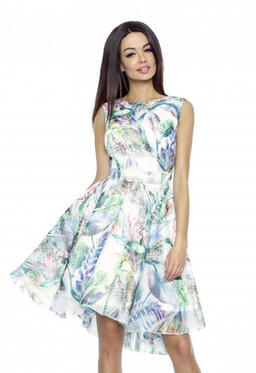 Lenia szyfonowa sukienka z kwiatowym wzorem