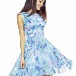 Zwiewna letnia sukienka z szyfonu