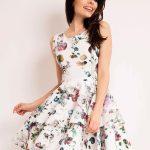 Sukienka w kwiaty podwójna falbana