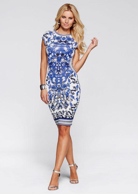 Elegancka sukienka we wzory