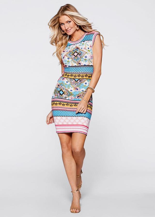 Mini sukienka z nadrukiem wzory