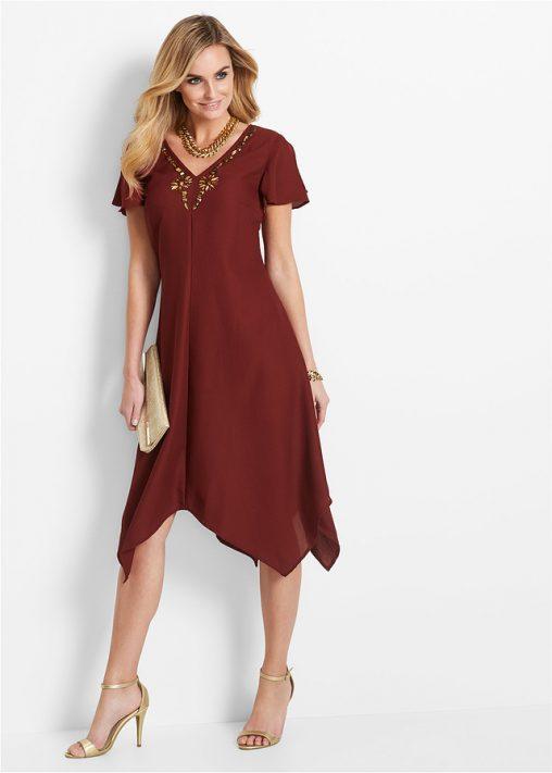 Asymetryczna sukienka luźniejszy krój