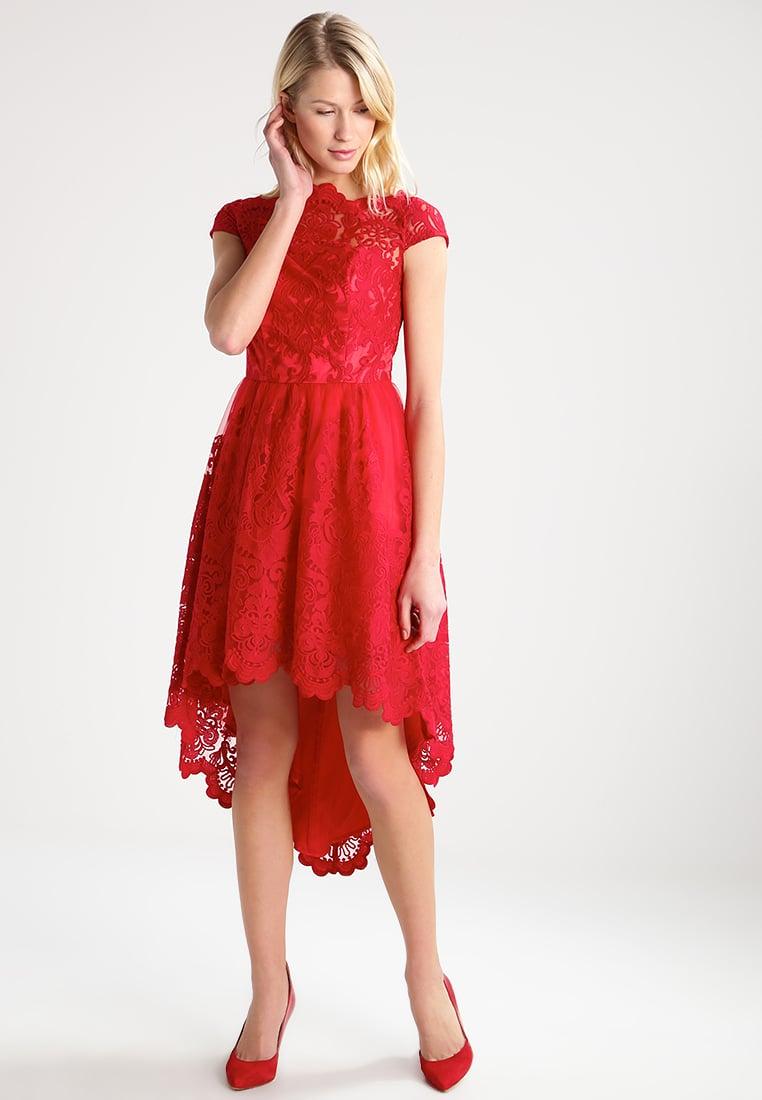 sukienka koronkowa z dłuższym tyłem