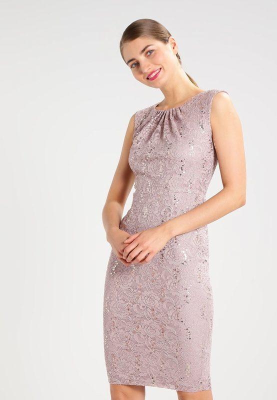 Koronkowa sukienka z cekinami na wesele i sylwestra