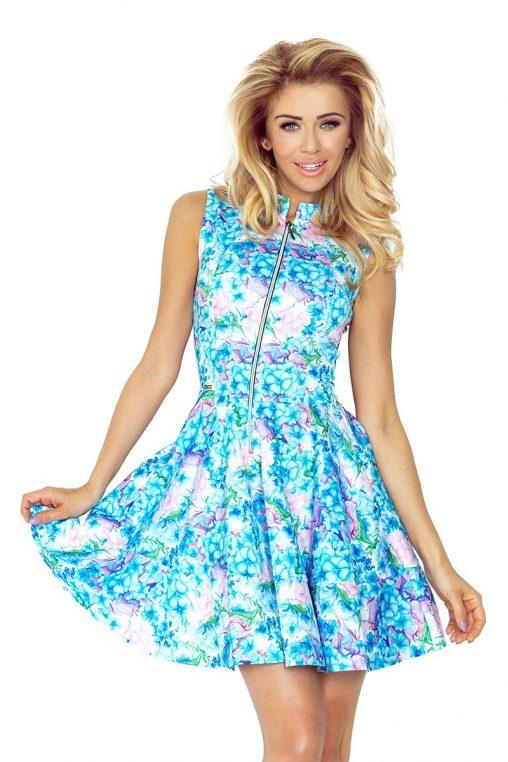 Letnia rozkloszowana sukienka w kwiaty