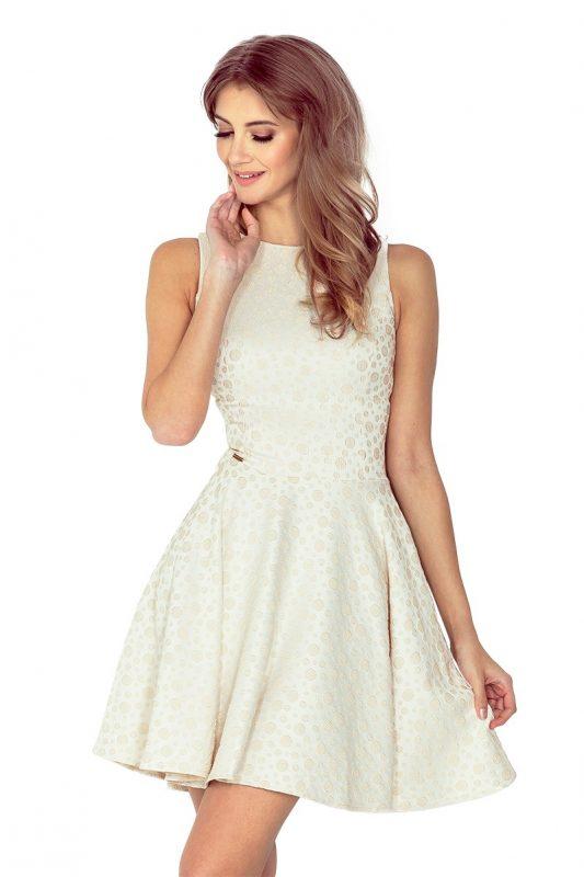beżowa sukienka koktajlowa