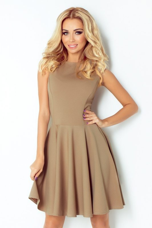 koktajlowa sukienka cappucino