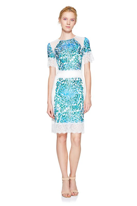 Krótka elegancka sukienka z koronką