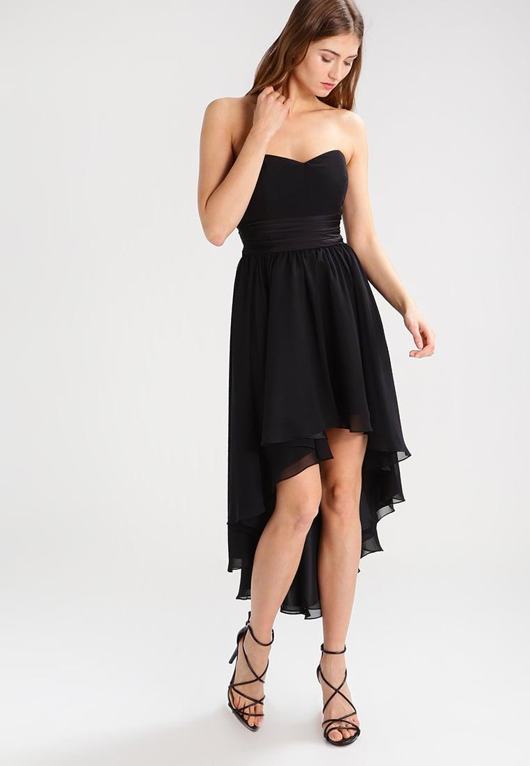 Czarna sukienka krótszy przód dłuższy tył