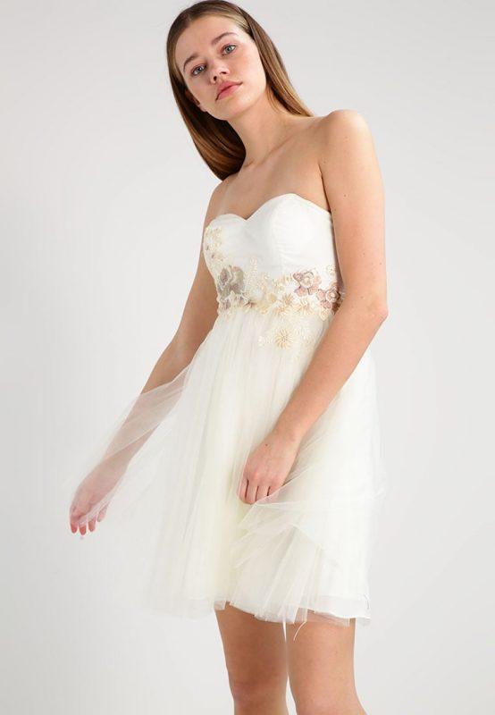 Biała gorsetowa sukienka bez ramiączek