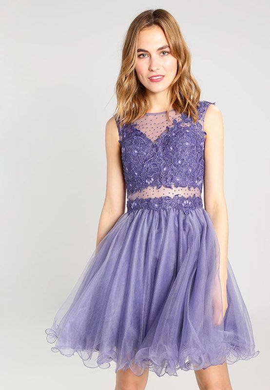 Lawendowa sukienka balowa na wesele i studniówkę