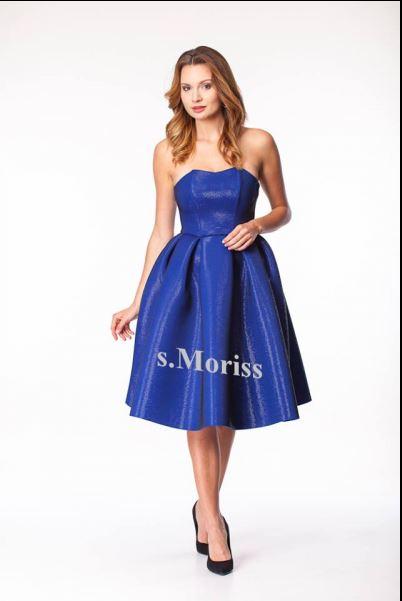 Niebieska sukienka na studniówkę i wesele