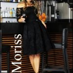 Czarna koronkowa sukienka bez ramion