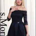 Czarna sukienka z koronki na wesele