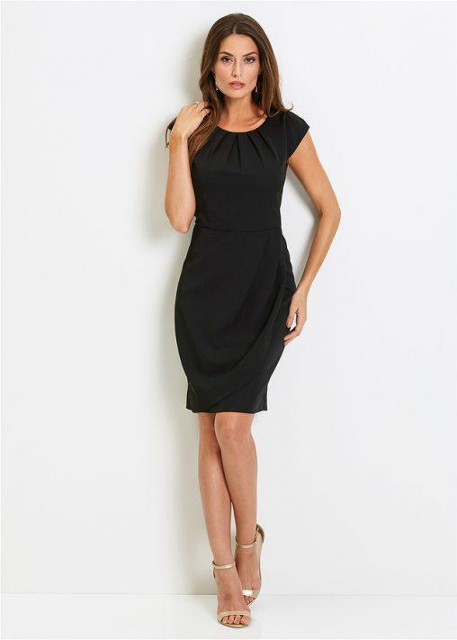 Elegancka czarna sukienka do kolan