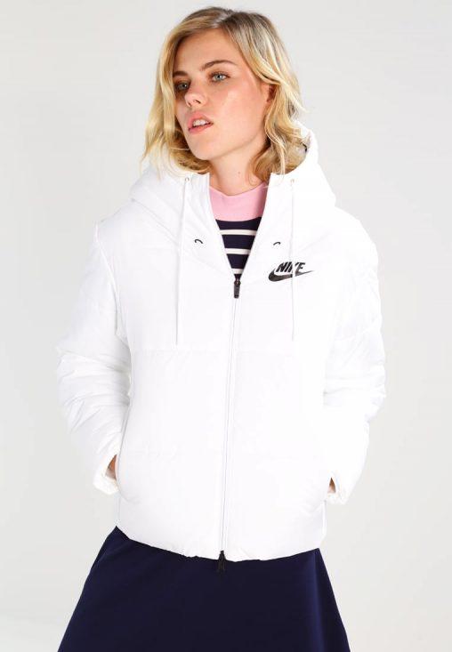 Biała zimowa kurtka NIKE