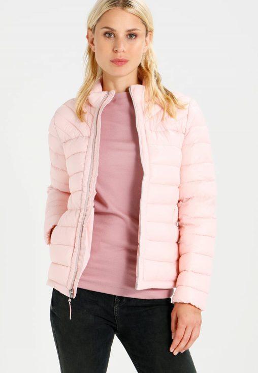 Różowa kurtka zimowa bez kaptura