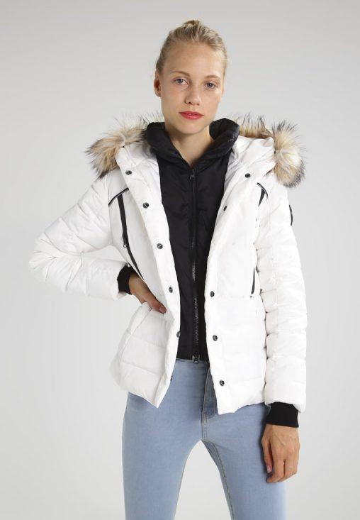 Biała zimowa kurtka damska