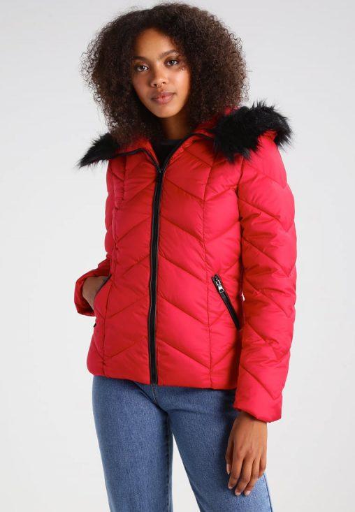 Ocieplana czerwona kurtka zimowa