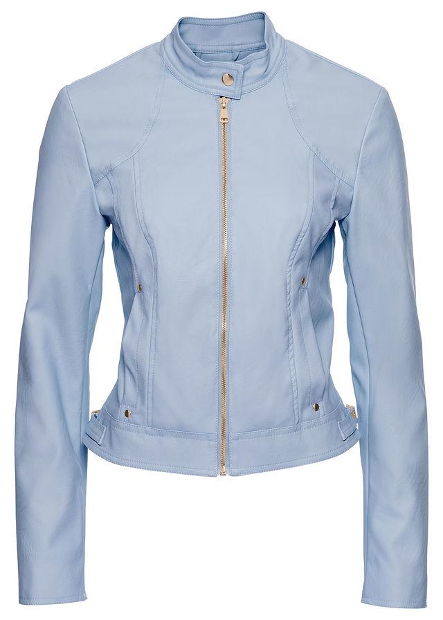 Ramoneska - kurtka damska niebieska