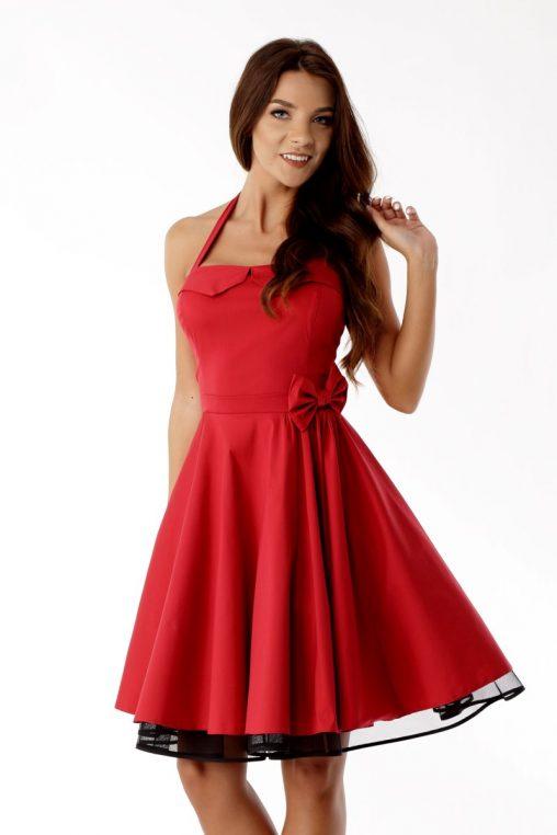 Czerwona sukienka vintage style