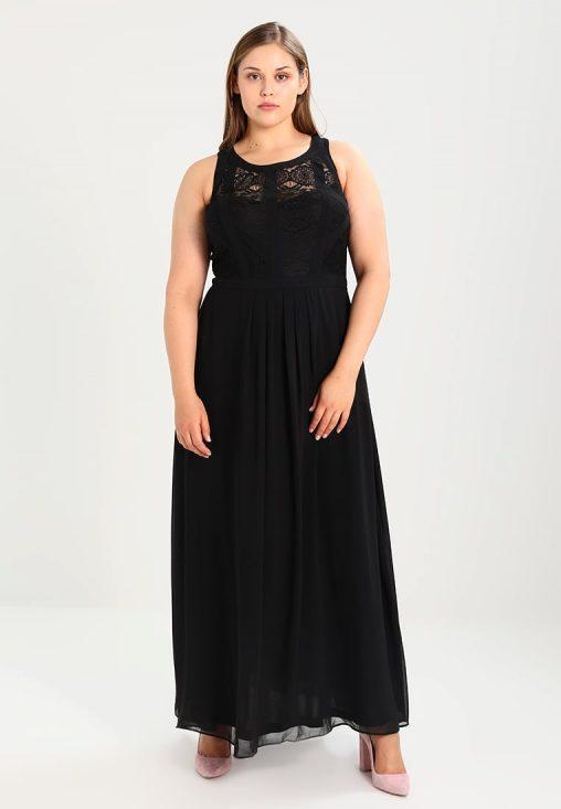 Balowa długa suknia wieczorowa plus size czarna