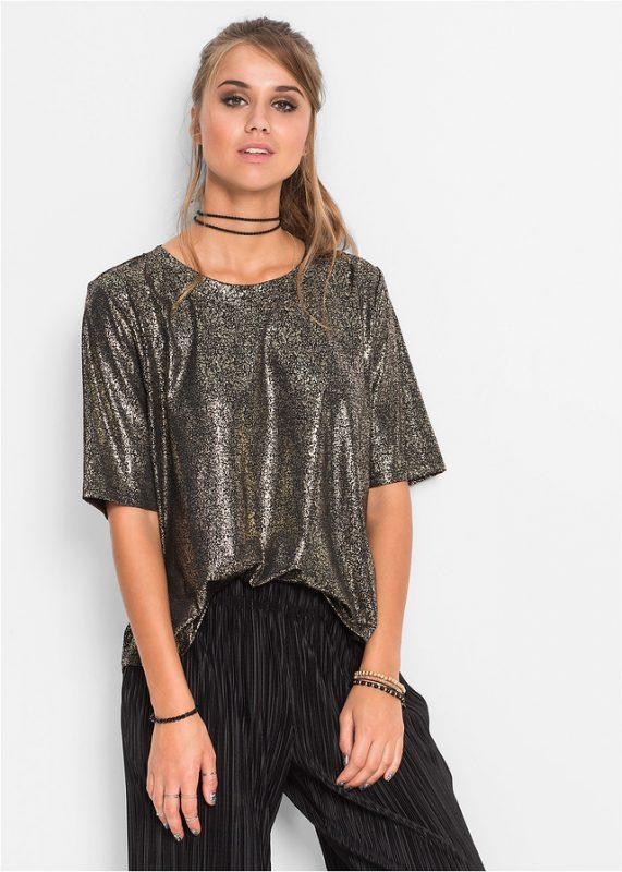 Połyskująca bluzka sylwestrowa imprezowa
