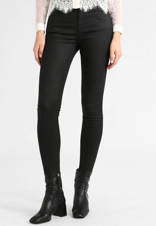 Jeansy damskie czarne rurki