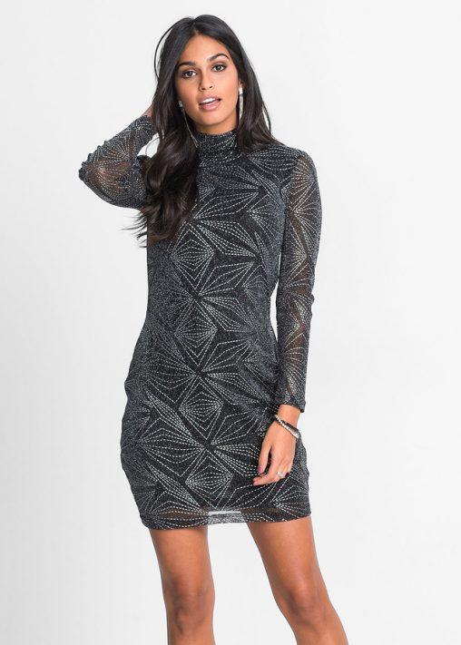 Połyskująca sukienka we wzory
