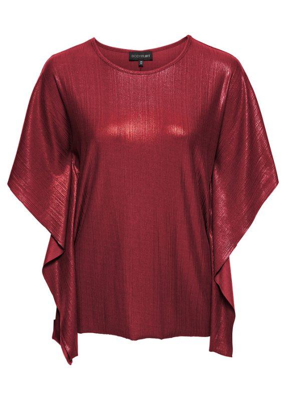 Połyskująca bluzka sylwestrowa czerwona
