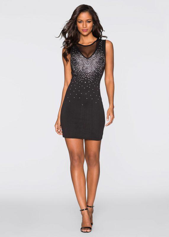 Czarna sukienka mini na sylwestra