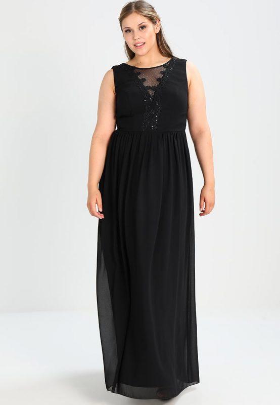 Czarna suknia wieczorowa plus size
