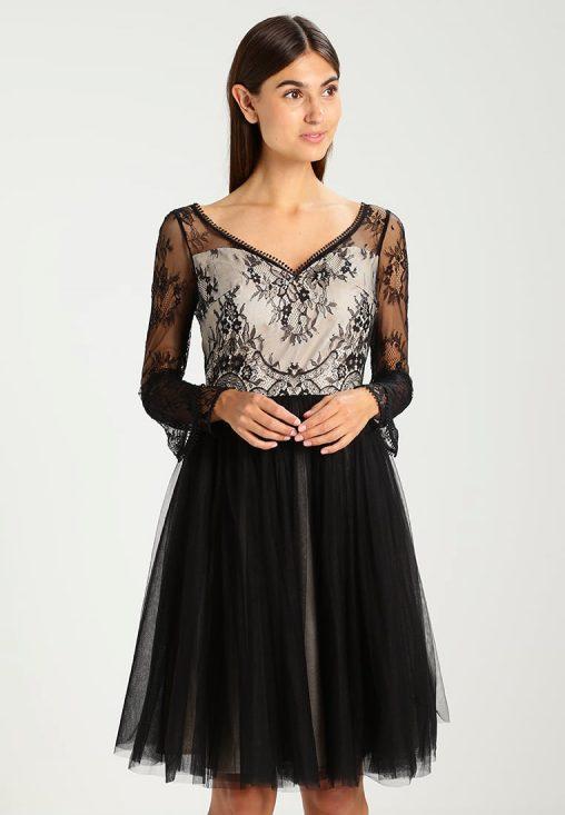 Delikatna sukienka z odsłoniętymi plecami na studniówkę wesele lub sylwestra