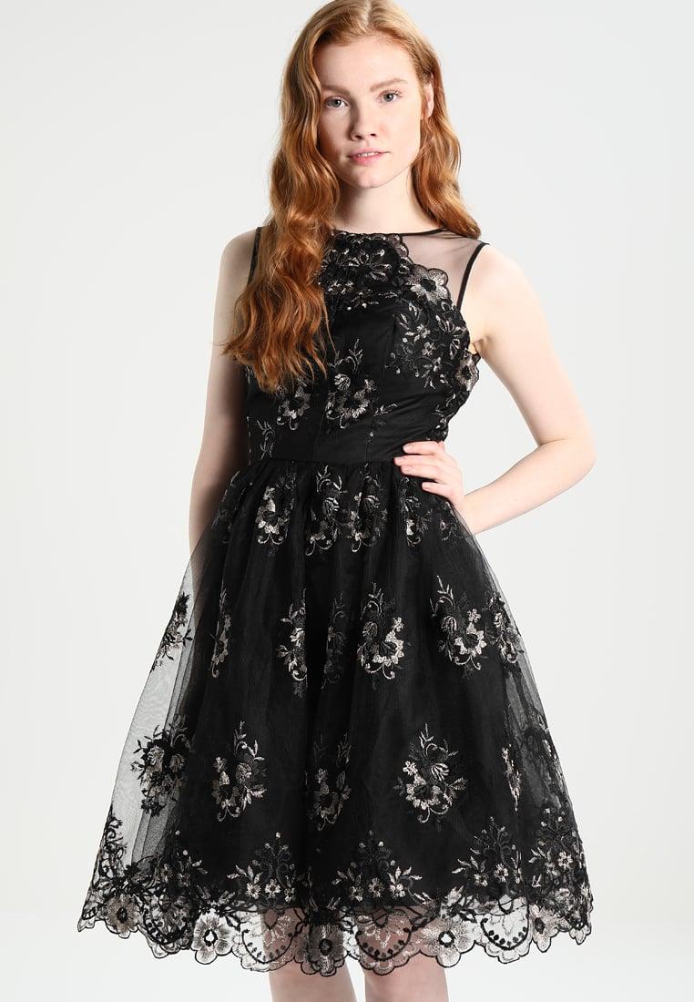 Czarno złota sukienka balowa na wesele lub studniówkę