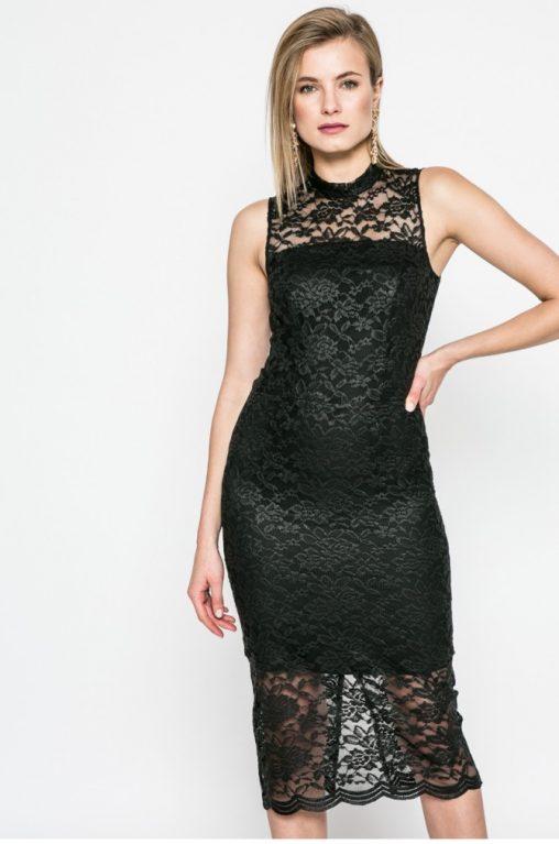 Koronkowa sukienka do kolan czarna