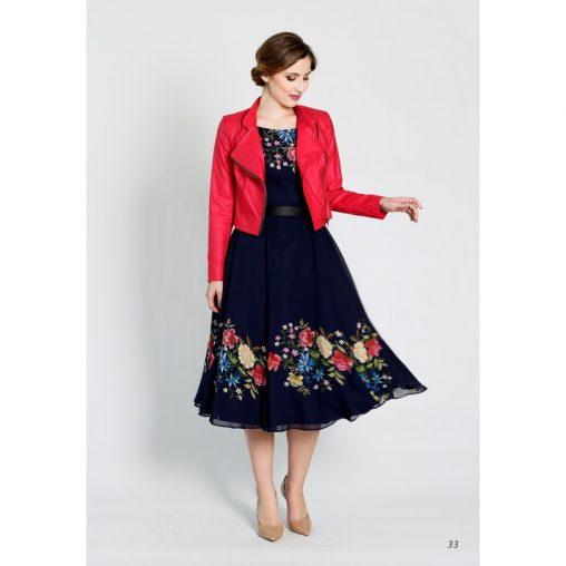 Elegancka sukienka koktajlowa w kwiaty