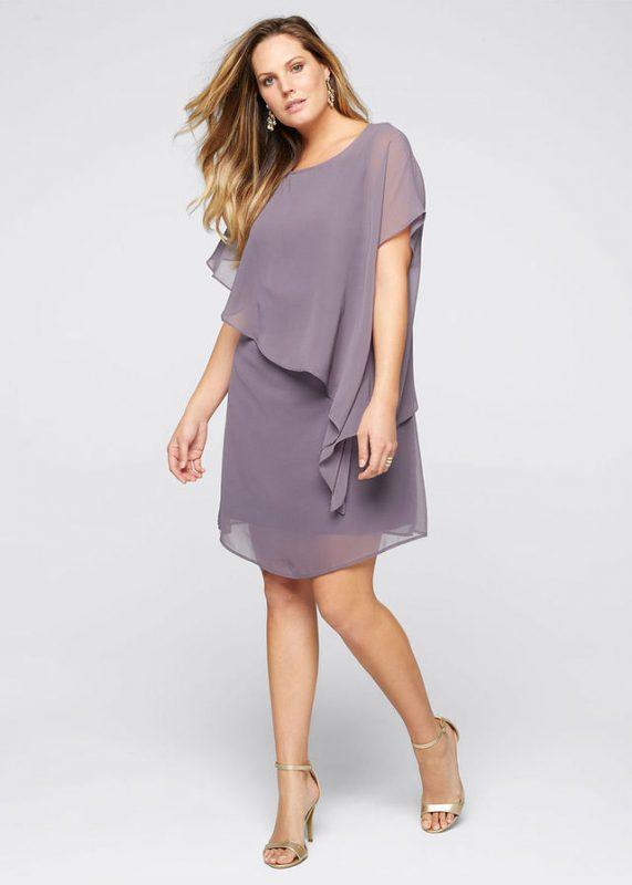 Sukienka z szyfonu plus size dla puszystych xxl duże rozmiary