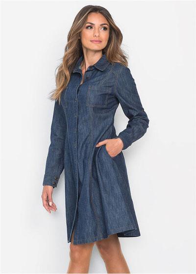 Sukienka jeansowa z z kieszeniami