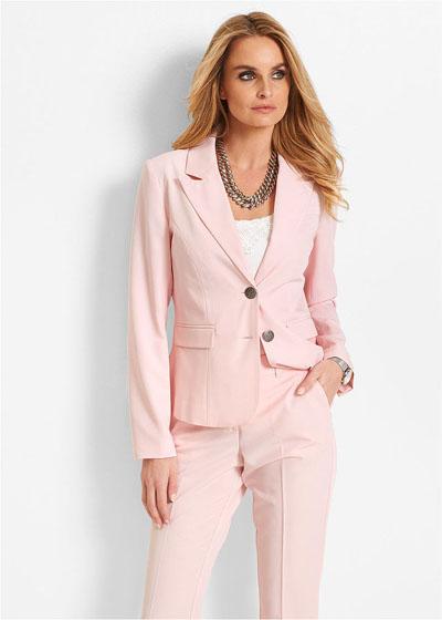 Żakiet damski pastelowy różowy