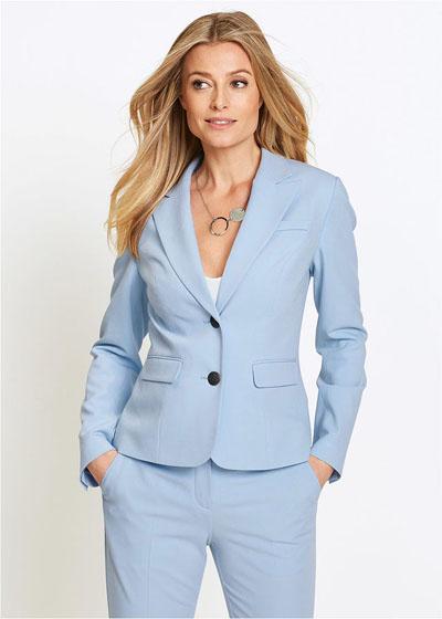 Żakiet damski pastelowy niebieski