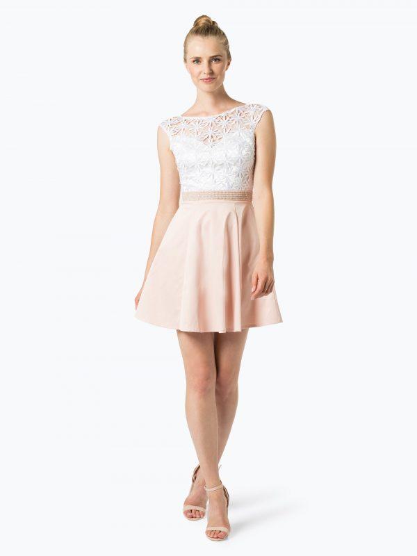 Lipsy sukienka koktajlowa różowa biała